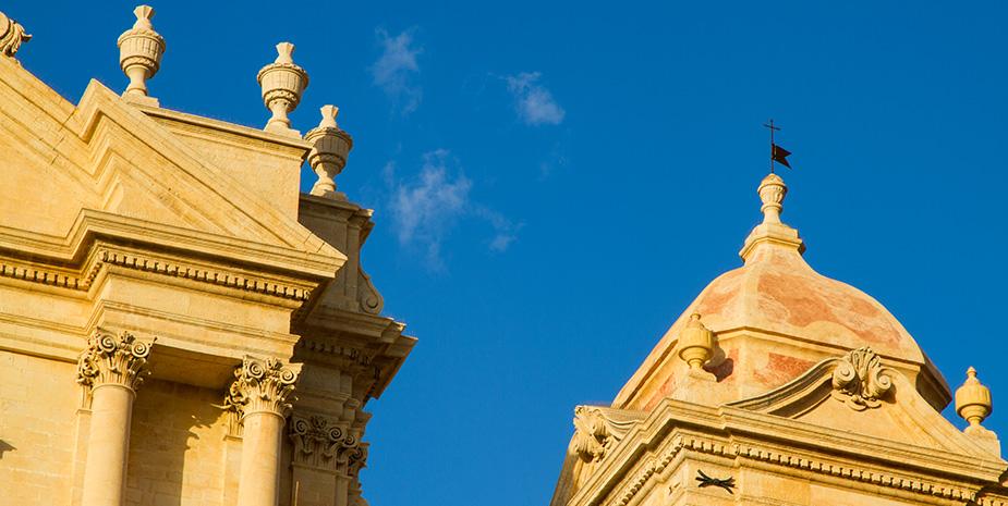 Un dettaglio della cattedrale di Noto