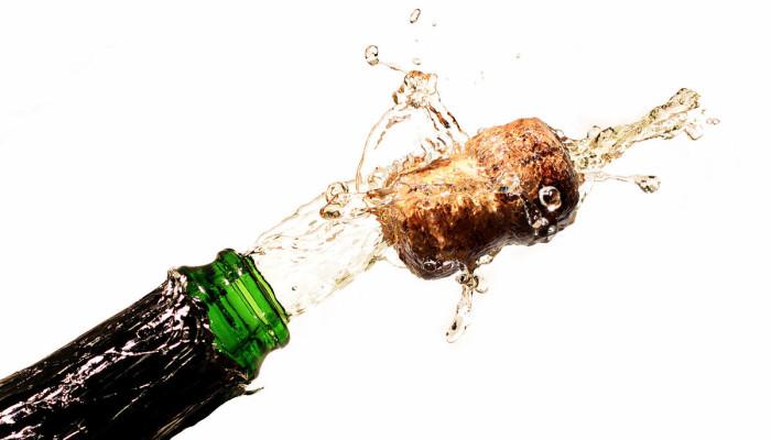 champagne di fuochi d'artificio
